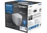 Duravit ME by Starck Set WC wall hung Compact Duravit Rimless with seat toilet wolnoopadającą,color white