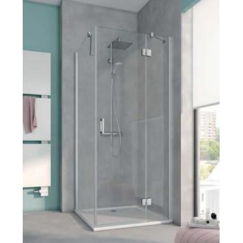 Door shower Kermi Raya 90 cm, swinging 1-swing with fixed panel, left version