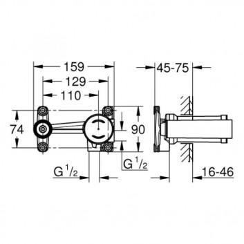 Concealed component baterii 2-otworowej Grohe - sanitbuy.pl