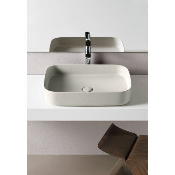 Washbasin Cielo Shui Comfort, countertop, rectangular, 60x40 cm, polvere