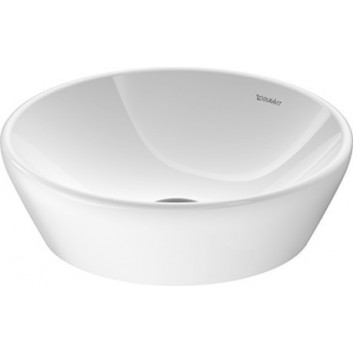Countertop washbasin Duravit D-Neo, 60x43,5cm, without overflow, without tap hole, white